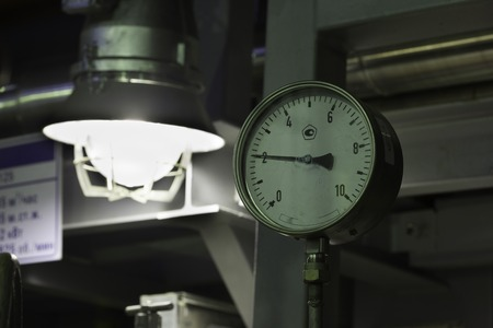fireproof: led fireproof industrial lantern close up at the factory Stock Photo