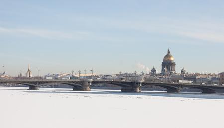 blagoveshchensky: St. Isaacs Cathedral and the Blagoveshchensky bridge, St. Petersburg