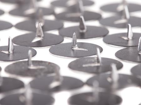 thumbtack: pushpin thumbtack  on white background close up
