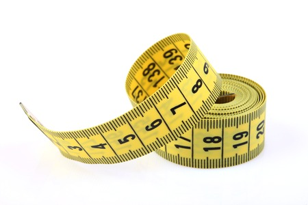 tape measure closeup isolated on white background