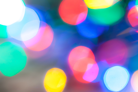 highlights: many multicolor round blurred highlights close up Stock Photo
