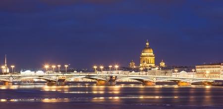 blagoveshchensky: Blagoveshchensky bridge, St. Isaacs Cathedral in St. Petersburg
