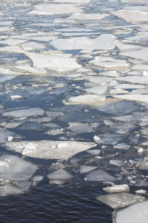 ice floes: Ice floes background of winter frozen river.