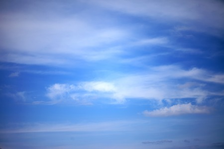 cirrus: deep blue sky and Cirrus clouds background Stock Photo