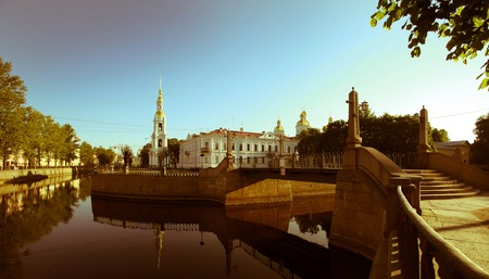 and st petersburg: St. Nicholas Orthodox Cathedral in St. Petersburg Russia