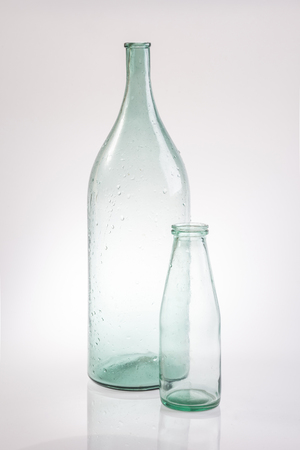 abstract still life clear glass vintage bottle