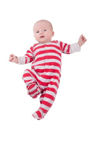 newborn baby boy isolated on white background