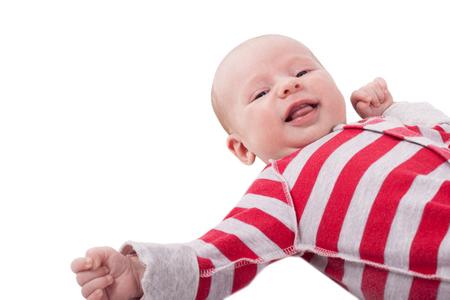 newborn baby portrait isolated on white background Imagens