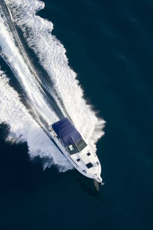 hedonism: nautical vessel at the sea Stock Photo