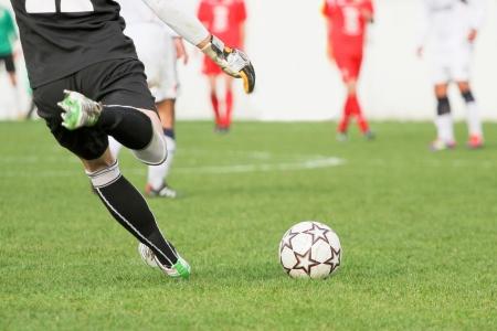 Fotbalový brankář Reklamní fotografie