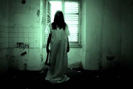 Horror Scene of a Scary Woman