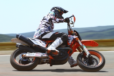 RIJEKA, CROATIA - JULY 8: SuperMoto World  championship on July 8, 2012 in Rijeka, Croatia