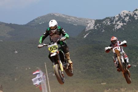 RIJEKA, CROATIA - JULY 8: SuperMoto World  championship on July 8, 2012 in Rijeka, Croatia