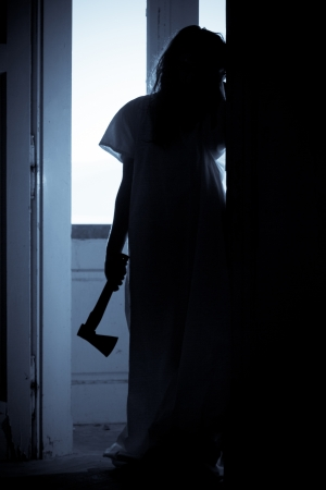 Horror Scene of a Scary Woman Stock Photo - 14998880