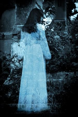 Tajemná žena s ghost Reklamní fotografie