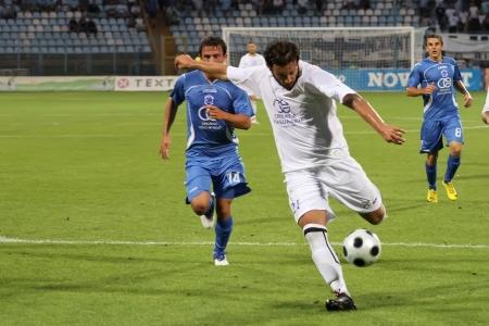 beetwen: RIJEKA, CROATIA - AUGUST 14: soccer match beetwen  Editorial