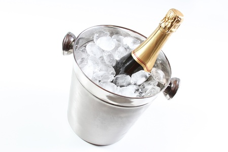 Champagne flutes and ice bucket  photo