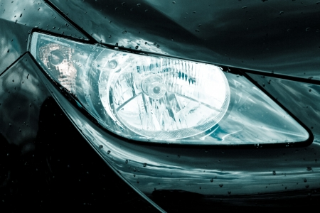 headlamp on luxury car