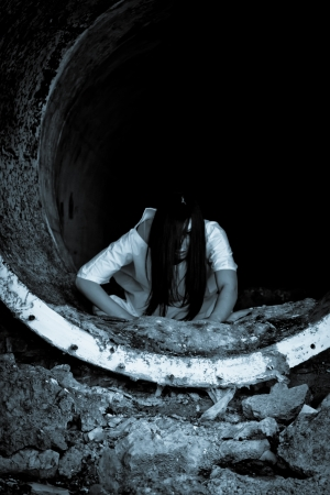 Horror scary woman Reklamní fotografie