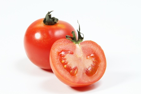 tomatoes isoalted in white Stock Photo