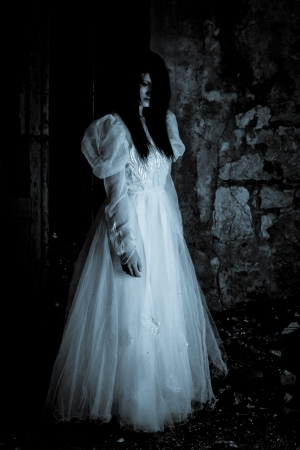 scary girl: Horror Scene of a Scary Woman - Bride