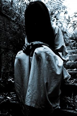 Horror Scene von einem Scary Frau Standard-Bild - 15720285