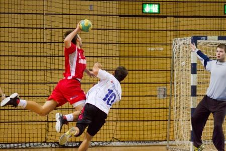 RIJEKA, CROATIA - OCT, 13: handball match (First Croatian Handbal league) between Zamet and Varteks on October 13, 2012 in Rijeka, Croatia