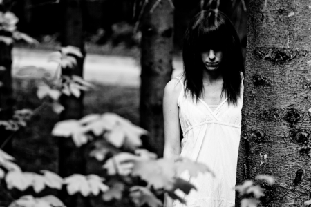 Horror-Szene von einem beängstigend Frau Standard-Bild - 19607491