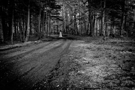 Horror-Szene von einem beängstigend Frau Standard-Bild - 19607492