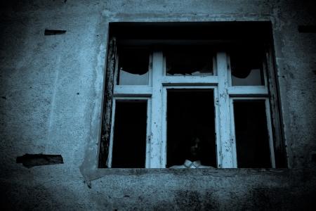 Horror-Szene eines wahnsinnigen Frau Standard-Bild - 20673937