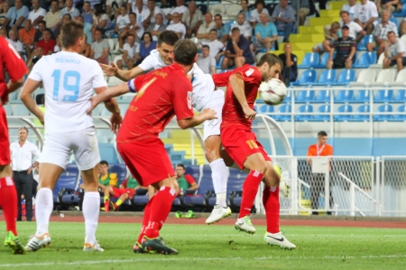 RIJEKA, CROATIA AUGUST 17 soccer derby match NK Rijeka  white  vs  NK Split  red  on August 17, 2013 in Rijeka