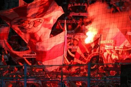 cfc: RIJEKA, CROATIA AUGUST 22  UEFA Europa League play off match CFC Rijeka  white  vs  VfB Stuttgart  red  on August 22, 2013 in Rijeka