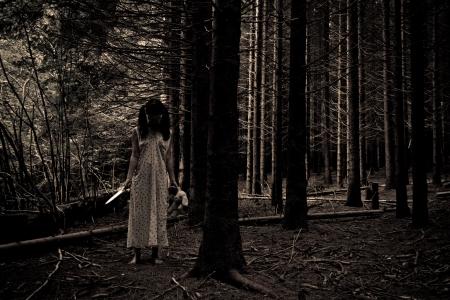 ホラー映画のシーン 写真素材