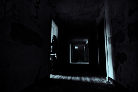 Horror Scene Scary Woman Reklamní fotografie