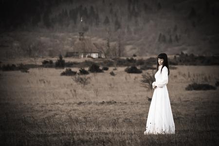 Horor scéna strašidelné ženy