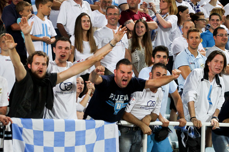 RIJEKA, CROATIA JULY 27  Soccer match between NK Rijeka and NK Hajduk  Croatian 1st Football League  on July 27, 2014 in Rijeka