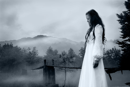 gothic woman: Horror Scene of a Scary Woman
