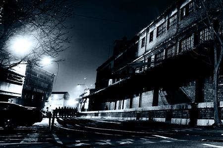 Creepy European Street at Night Zdjęcie Seryjne
