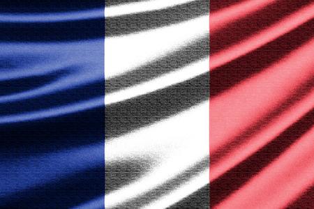 flag of france: Waving flag of the France