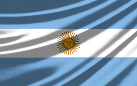 Waving flag of the Argentina