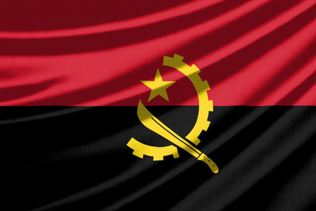 angola: Waving flag of the Angola