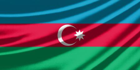 azerbaijan: Waving flag of the Azerbaijan Stock Photo