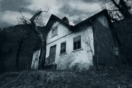 Abandoned horror house Stock Photo