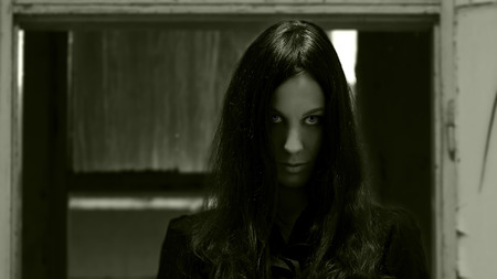 Horror-Szene von einem Scary Frau Standard-Bild - 38768942
