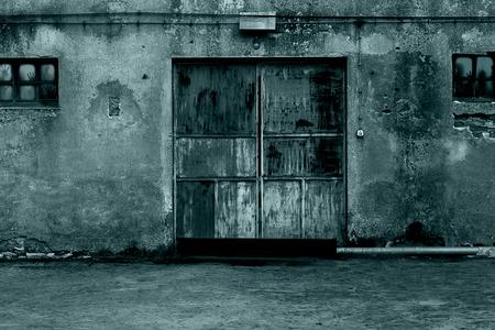 horror background: Mysterious door