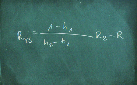 trigonometry: Mathematic formula drawing on chalkboard