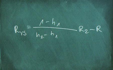 equation: Mathematic formula drawing on chalkboard