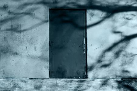 Horror Scene of the Mysterious Door Stock Photo