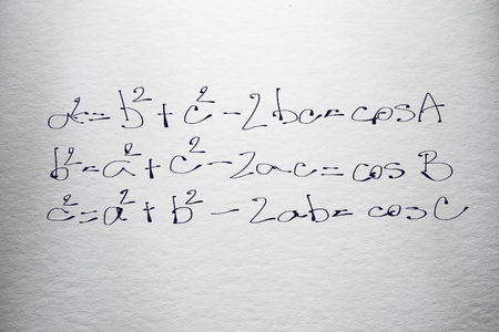 Mathematic formula examples free hand written