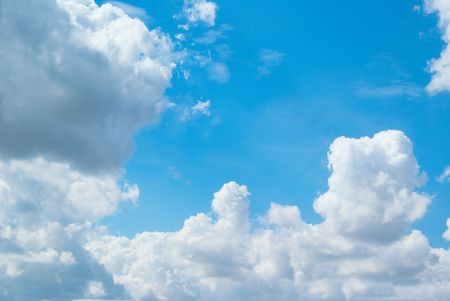 White Clouds and blue sky can be used for background Stock Photo - 7802527